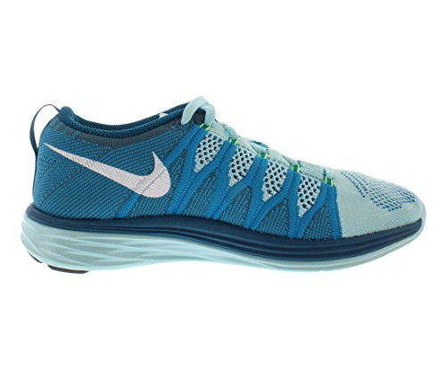 Nike 620465 011 Flyknit Lunar2 Herren Sportschuhe - Running Petrol/Weiß