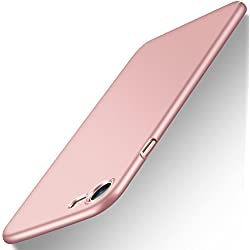 """Coque iPhone 7, Coque iPhone 8 / 7, POOPHUNS Coque pour iPhone 7 /8 Matière PC - 4,7"""" - Rose Or - [Ultra Mince] [Ultra Léger] Anti-Rayures, Anti-dérapante pour Apple iPhone 7 (2016) et iPhone 8 (2017)"""
