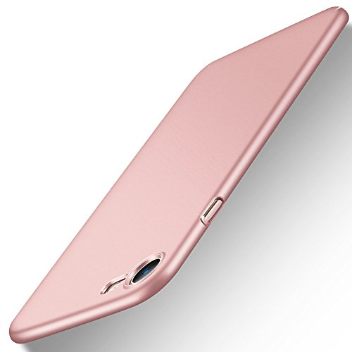 "Coque iPhone 7, Coque iPhone 8 / 7, POOPHUNS Coque pour iPhone 7 /8 Matière PC - 4,7"" - Rose Or - [Ultra Mince] [Ultra Léger] Anti-Rayures, Anti-dérapante pour Apple iPhone 7 (2016) et iPhone 8 (2017)"