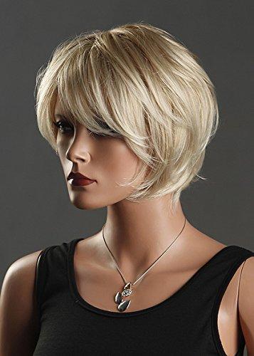 DXP NEU Perücke Wig Haar Blond Kurz Gelockt (Perücken Tressen)
