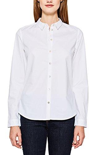 ESPRIT Damen 097EE1F029 Bluse, Weiß (White 100), 38