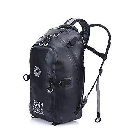 Moto Sac à dos pour sports de plein air d'équitation de l'emballage (Noir, 23L)