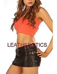 Full Grain Leather Skirt Tight Low Waist Hipster 1303