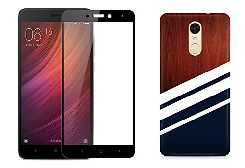 los angeles 61a7d f734f [COMBO] Redmi Note 4 Cover/Case + Free Tempered Glass, CASE U Navy Wood  Designer Premium PolyCarbonate Case Back Cover for Redmi Note 4