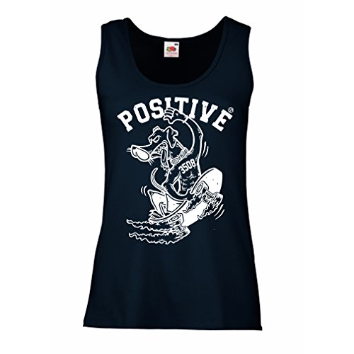 lepni.me Serbatoio,Maglietta Senza Maniche Femminile Positivo - Abbigliamento da Skateboard, per Pattinatori, Skateboard Divertente, Simpatico Regalo di Strada Azzulo Multicolore