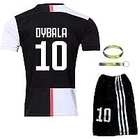 Daoseng 2019-2020 Tuta da Allenamento per Ragazzo Uniforme da Calcio T-Shirt a Maniche Corte + Pantaloncini (2019-2020 No.10, T22/Altezza Bambini 130-135CM)