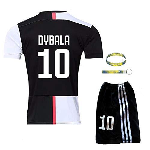 Daoseng 2019-2020 tuta da allenamento per ragazzo uniforme da calcio t-shirt a maniche corte + pantaloncini (2019-2020 no.10, t24/altezza bambini 140-145cm)