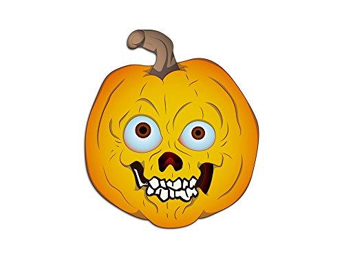 oo Wandaufkleber Halloween Gruselig Kürbis Gesicht (65x57cm) (Schaurige Gesichter Für Kürbisse Halloween)