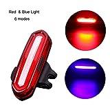 TAOtTAO LED USB wiederaufladbare MTB Sicherheitswarnung Fahrrad Rücklicht Rücklicht (E)