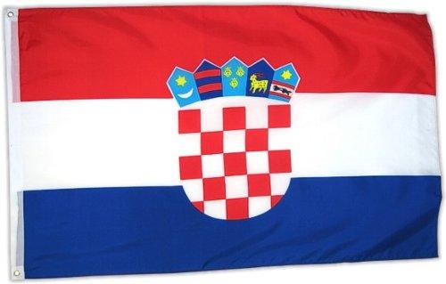 Kroatische Flagge (Flaggenking Kroatien Flagge / Fahne, mehrfarbig, 150 x 90 x 1 cm, 17010)