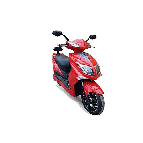 HAWK 3000 LI 3000 Watt Elektroroller 45 km/h 2 Lithium Akkus E Roller E Scooter mit Straßenzulassung Elektro Roller Scooter Testsieger kaufen, Rot