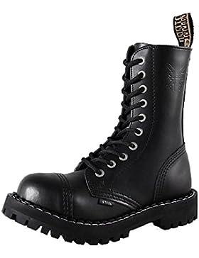 Steels 10 Loch Boots Schwarz