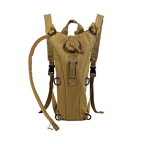 Zooron Trinkrucksack, verstellbar, langlebig, 3-l-Trinksystem, zum Wandern, Trink-Schultertasche, zum Radfahren, mit Wasserblase, khaki
