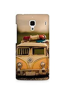 Amez designer printed 3d premium high quality back case cover for Xiaomi Redmi 1S (Yellow bus nd woman shadow)