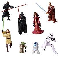 TE-Trend 8 Star Wars Keychain Figures Darth Vader Yoda Stormtrooper R2D2 C-3PO