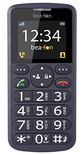 Bea-fon S33-EU01B Großtastentelefon (TFT-Farbdisplay, SMS, Rechner, Wecker)