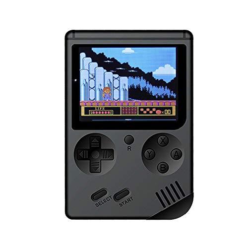 Handheld Spielkonsole Retro Mini-Handheld-Videospielkonsole Eingebaute 500 Klassische Spiele,3 Zoll 500 Retro Spielkonsole Konsole Tragbare Spielkonsole,750mAh,Lithium Batterie (Black) -