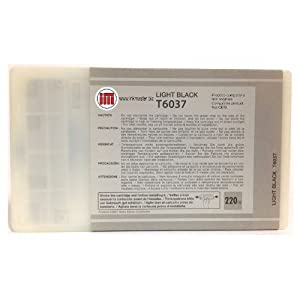 Ink Master - Cartuccia compatibile EPSON T6037 LIGHT BLACK T6037 per Epson Stylus Pro 7800 7880 9800 9880