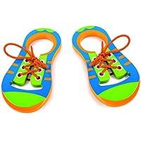 Kinder Einfädeln Schuhe Binden Schnürsystem Krawatte Lernen Spielzeug Lernspielzeug