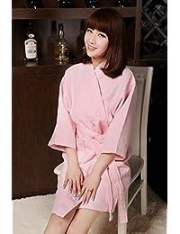 Blueqier Pyjama de Nuit Albornoz de Albornoz de algodón de Hotel casa Club (Color: Rosa, Tamaño: L) Inicio Ropa de Dormir (Color : Pink,…