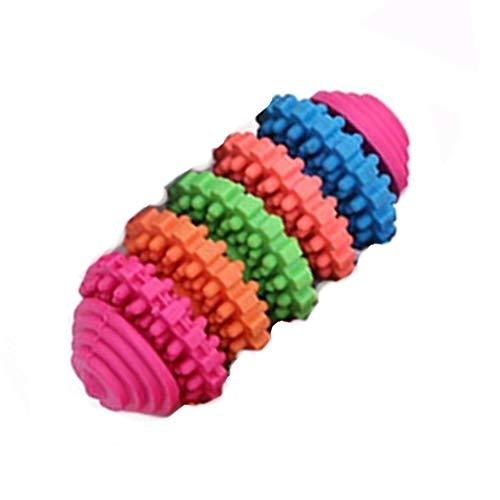 Trifycore 5 PCS Small Pet Welpen Getriebe Spielzeug für Kinderkrankheiten und die Ausbildung von Interactive Games weichen Naturkautschuk Ring Hundespielzeug zufällige Farbe, Kleintierbedarf Kauen - Getrieben Ausbildung