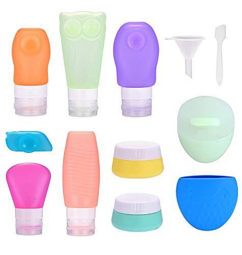 TEPSMIGO Travel Reise Flaschen Set, Reise Set, Reisebehälter für Handgepäck Kosmetiktasche Reiseflaschen für Shampoo Creme Spülung Körperpflege (Gesicht Wie Glas)