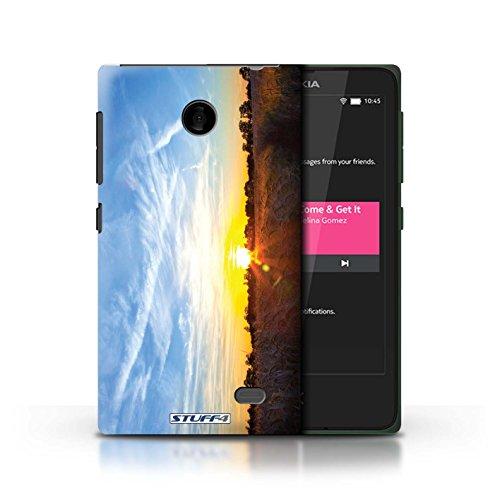 Kobalt® Imprimé Etui / Coque pour Nokia X / limite forestière conception / Série Coucher du Soleil Bleu ciel