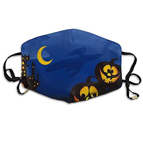 Unisex Fashion Mouth Mund Maske Halloween Black Night Castle Pumpkin Moon.jpg