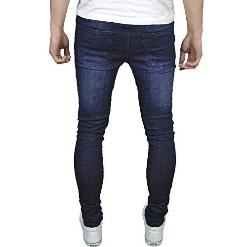 Enzo Designer-Herren-Jeans, Skinny Fit, Stretchmaterial Dark Stonewash