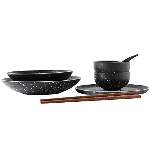 RKY Bol- Assiette à plat combinaison japonaise définie combinaison manger maison sélection créative combinaison étoiles bol-5 /-/ (taille : 9 pieces)