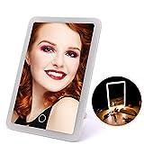 LEDHZJYLW Led Schminkspiegel Touchscreen Schminkspiegel Einstellbar 180 Drehbare Schminktischständer Spiegel Mit Led-Leuchten Beauty Kosmetik Make-Up-Tools