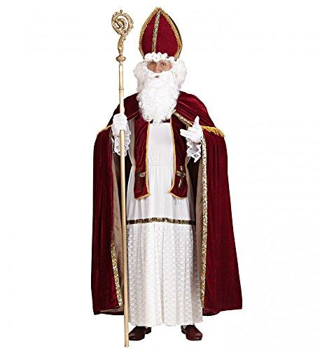 aus Kostüm für Herren Gr. L/XL Santa Claus Weihnachtsmann Erzbischof (Klaus Halloween Kostüm)