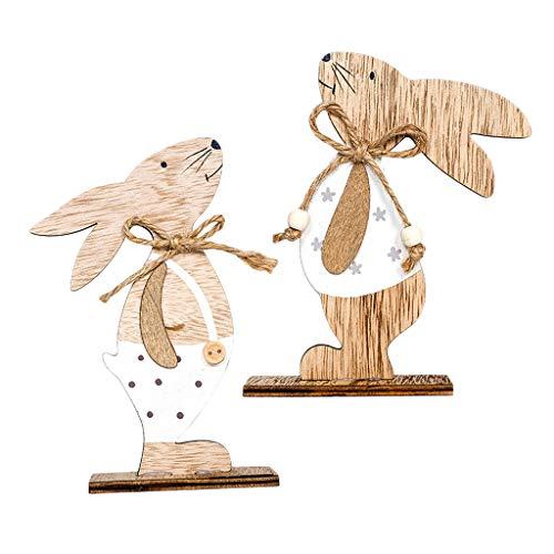Osterhasen Maskottchen Kostüm Hase Cosplay Holz Ornamente ()