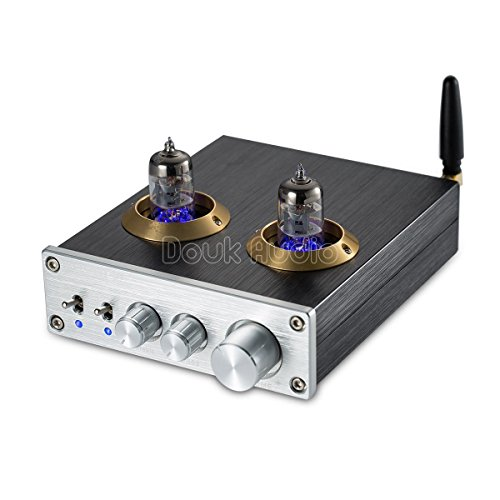 Nobsound Bluetooth HiFi 6J1 Vacuum Tube Preamplifier Stereo PreAmp Digital Treble & Bass Tone Control Bluetooth Röhrenvorverstärker Audio vorverstärker (Silver)