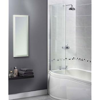Aqualux, Shine 1160105, Parete in vetro per vasca da bagno con ...