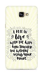 Amez I fell in Love with You Back Cover For Samsung Galaxy A9