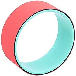 """qubabobo Yoga wheel- más fuerte más cómodo Dharma Yoga Prop círculo para estirar/apoyo para poses de Yoga y backbends, puente Pose (13""""x5""""), rojo"""