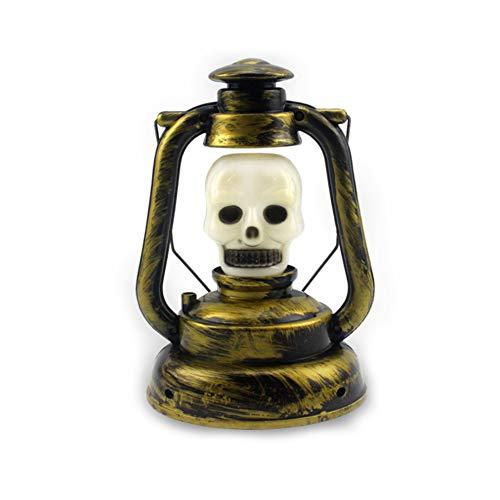 Kreative Halloween-Lampe bewegliche Laterne Tischlampe Halloween Karneval Dekoration-Nacht Kerosin-Lampe Schädel-Art