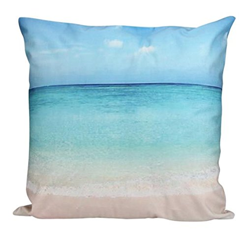 Moonuy-Meer indische Strandmalerei super weich Kissen pillowcase - Druck-wurfs-kissen Indische