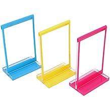 Polaroid 3 marcos de fotos verticales. Colorido, duradero, marcos de plástico ligero con base. Para papeles fotográficos de Zink 2x3 (Snap, Zip, Z2300)
