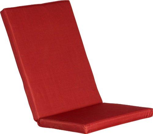 Premium Gartenstuhlauflage rot - 2 Größen - Wetterresistent und hochwertig 45 + 70 x 48 cm - Gr. L