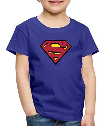 Of Shirt Steel Kostüm Mann - DC Comics Superman Logo Original Kinder Premium T-Shirt, 134/140 (8 Jahre), Königsblau