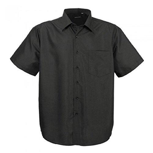 Hka14-01 Schwarz klassisches kurzarm Übergröße Herren Lavecchia kurzarm Hemd Gr. 3-7 XL (6XL) -