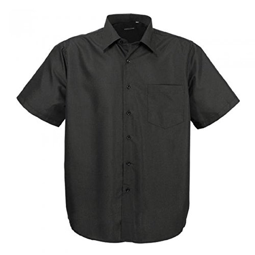 Hka14-01 Schwarz klassisches kurzarm Übergröße Herren Lavecchia kurzarm Hemd Gr. 3-7 XL (6XL) (Care-kurzarm-shirt Easy)