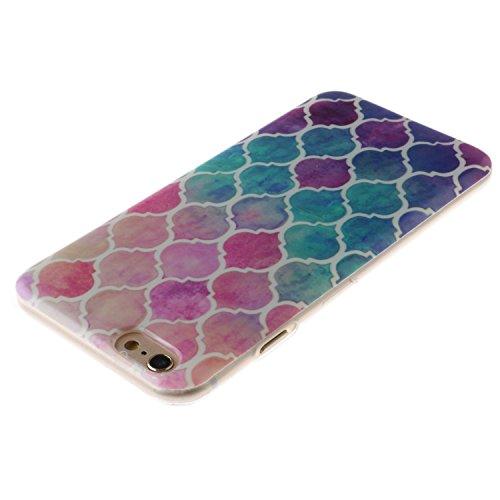 """iPhone 6s Plus Coque, MOONCASE iPhone 6 Plus Cover Case Fit Soft Silicone Housse avec Coque de Protection en TPU Etui pour iPhone 6 Plus(2014) / 6s Plus(2015) 5.5"""" - DD09 Série Colore - DD08"""