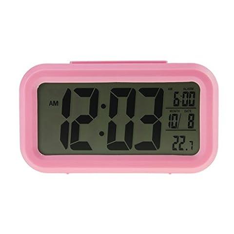Liying Neu Digitalwecker LED Wecker Reisewecker mit Zeit Temperatur und Datumsanzeige groß display