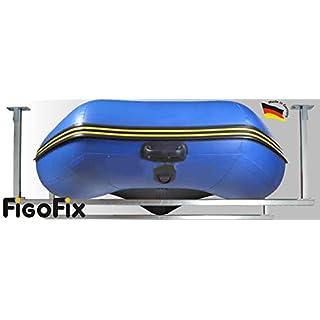 FigoFix Schlauchboothalter-Set, Decke, Befestigung, Garage, Massiv