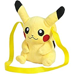 Pokèmon - Bolso, Peluche Pikachu, 15 cm, Color Amarillo (Famosa 760015203)
