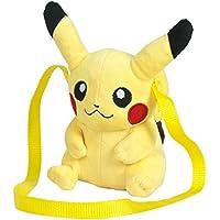 Pokemon - Bolso, peluche Pikachu,  15 cm, color amarillo (Famosa 760015203)