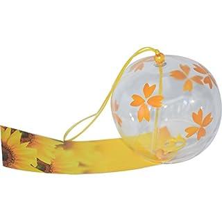 Wind Glocke Japanische Wind Chimes Handgefertigtes Glas Wind chimes-yellow Blume